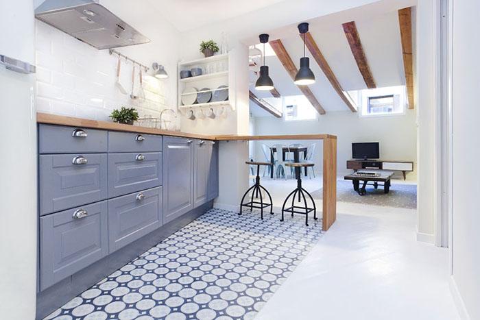 Cocinas baldosa hidraulica suelo hidraulico zelart - Azulejos hidraulicos cocina ...